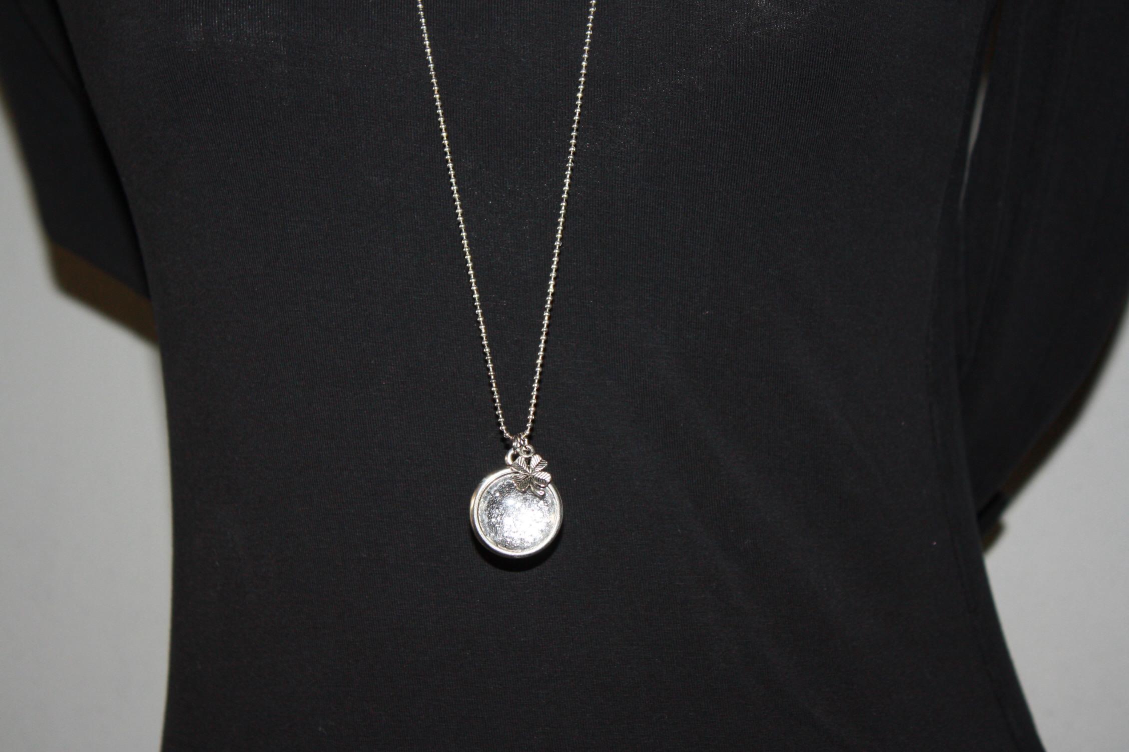 zilveren lange ketting